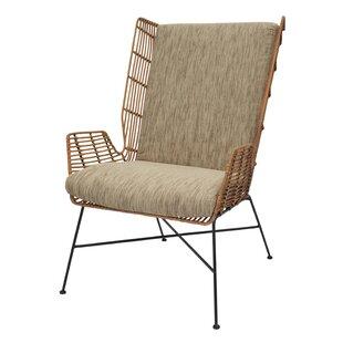 Krumm Rattan Wingback Chair