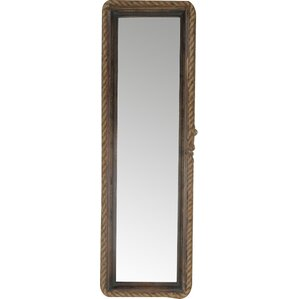 Long Wall Mirror With Rope Rim U0026 Metal Frame