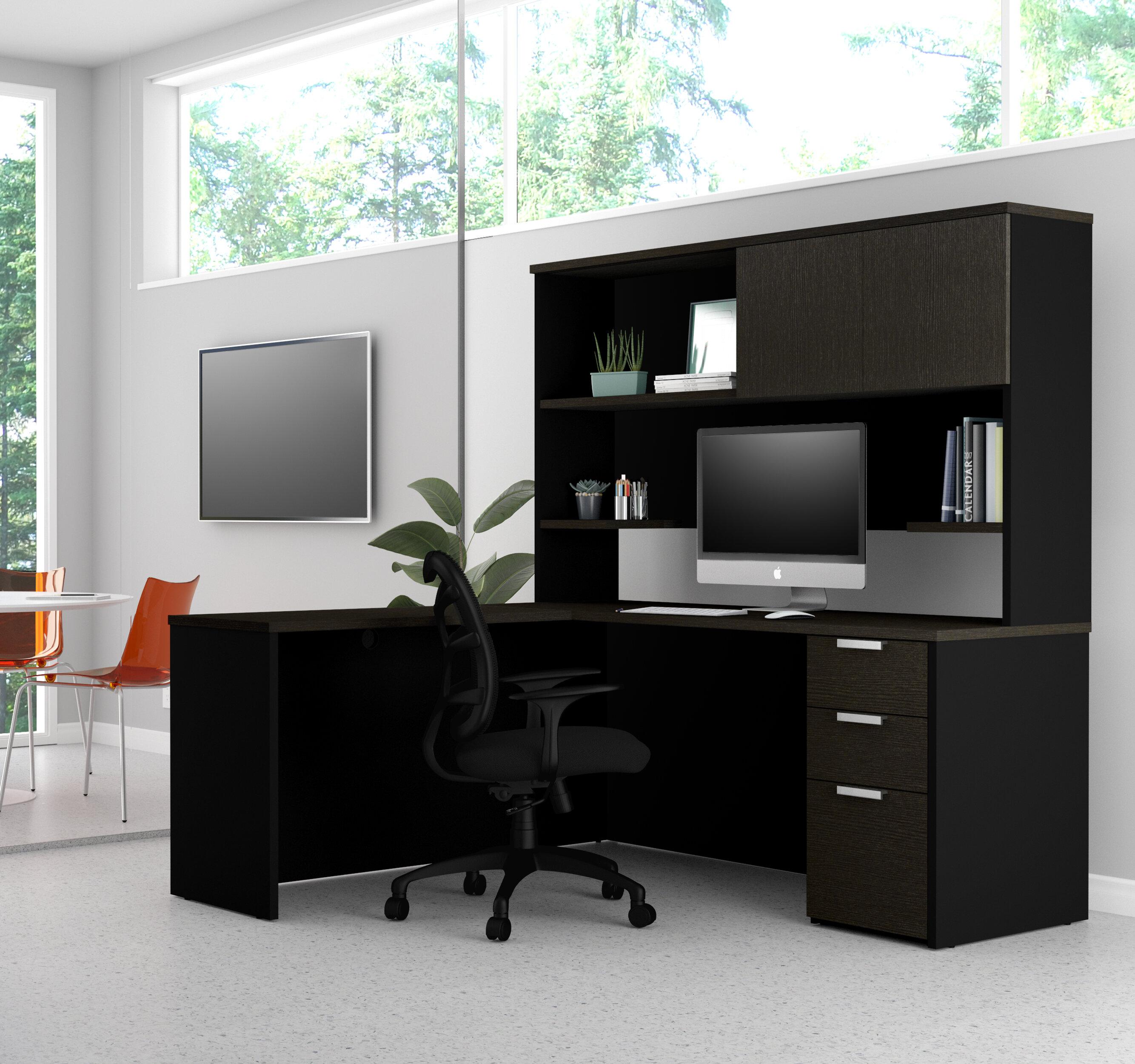 Miraculous Kadian Modern Reversible L Shape Corner Desk With Hutch Download Free Architecture Designs Scobabritishbridgeorg