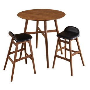Modern contemporary 3 piece bar table set allmodern save watchthetrailerfo