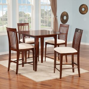Montreal 5 Piece Counter Height Pub Table Set by Atlantic Furniture