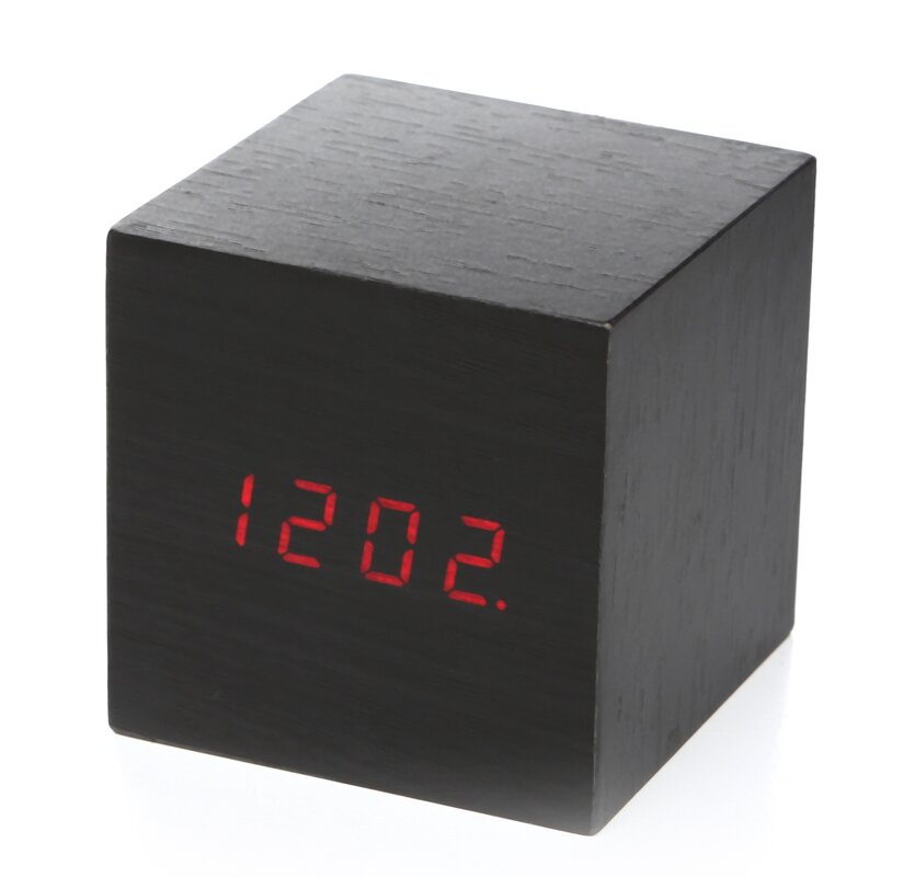 Clap On Cube Alarm Tabletop Clock