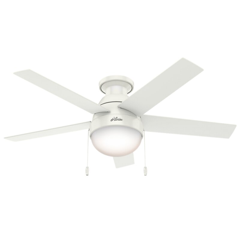 46 Anslee 5 Blade Ceiling Fan Light Kit Included