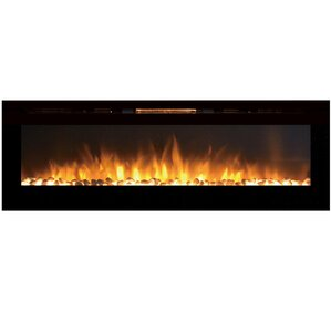 Barajas Wall Mount Steel Electric Fireplace by Brayden Studio