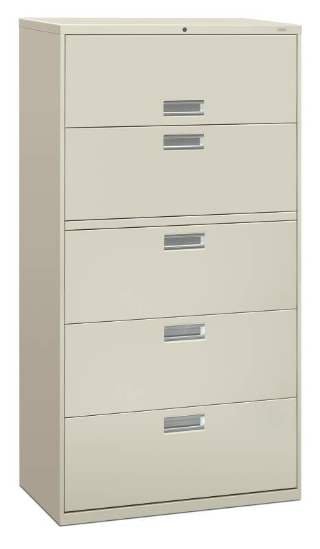 HON Brigade 600 Series 5 Drawer Lateral Filing Cabinet | Wayfair