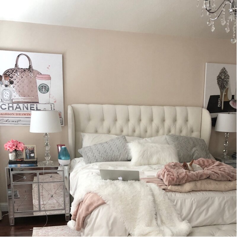 100 Bedroom Decorating Ideas Designs: Glam Bedroom Design Photo By Wayfair