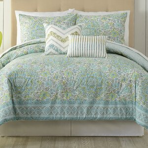 Stamped 5 Piece Comforter Set