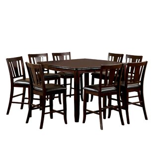 Birchover 9 Piece Counter Height Extendable Dining Set