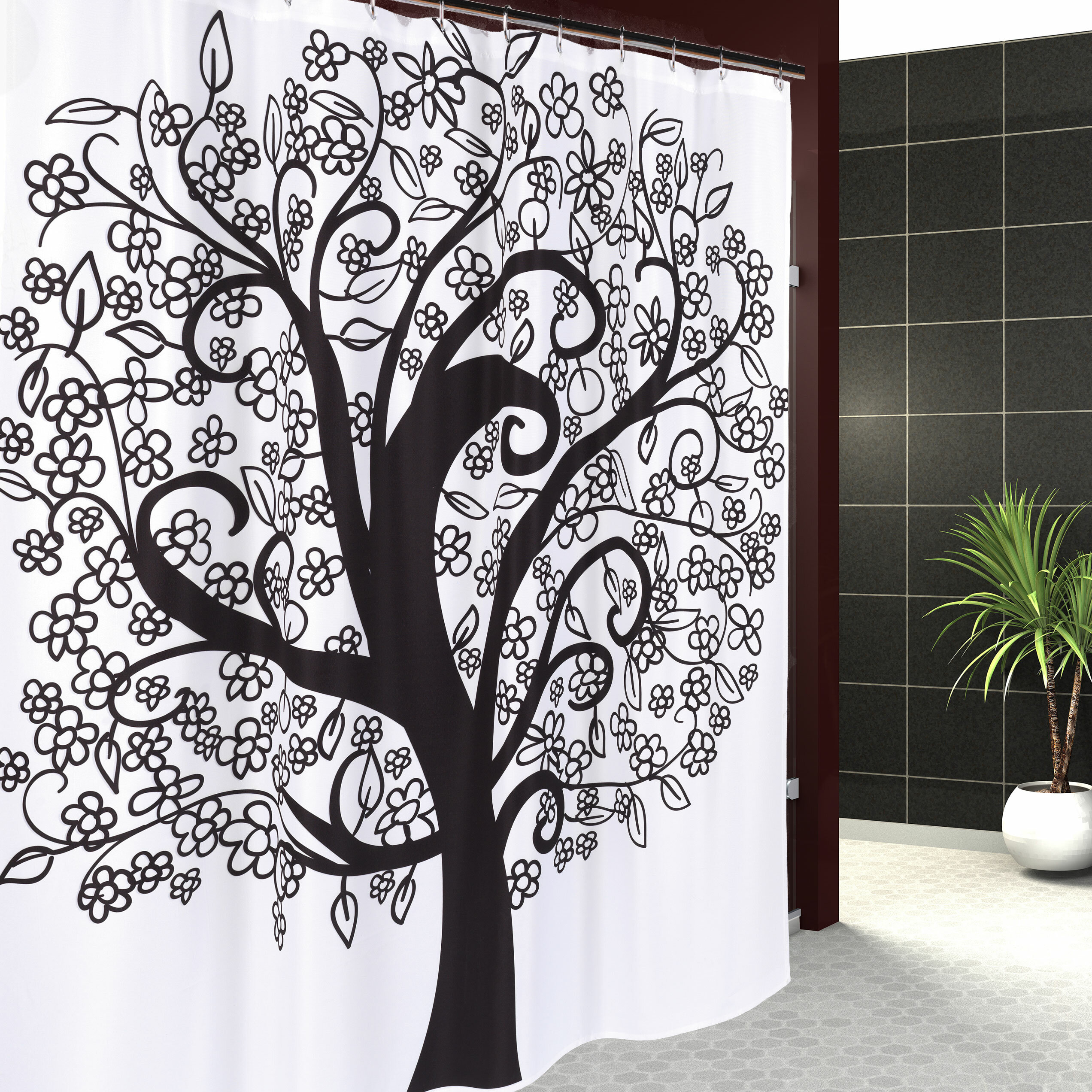 East Urban Home Tree Of Life Shower Curtain Reviews