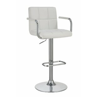 Teterboro Grid Adjustable Height Swivel Bar Stool