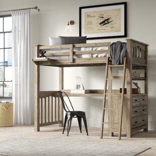 Queen Size Bunk Bed With Desk Wayfair