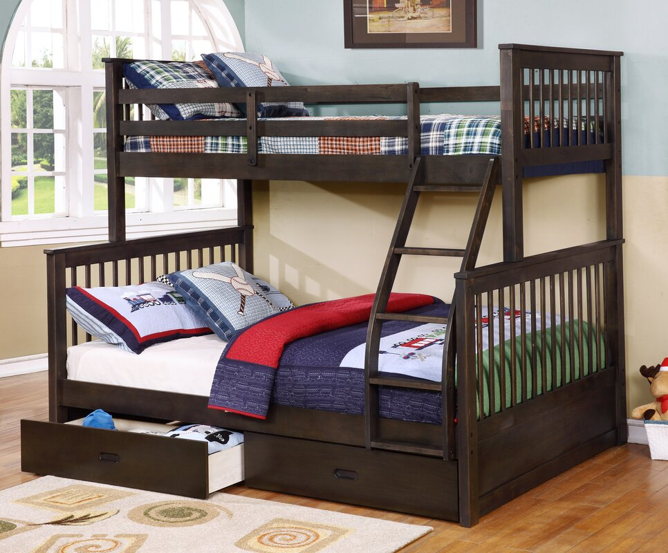 Unfinished Wood Bunk Beds Small Teen Bed Room With White Stained