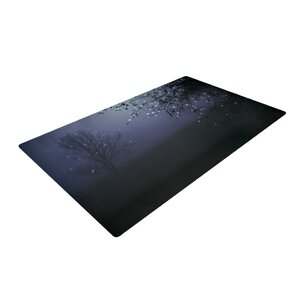 Monika Strigel Song of the Nightbird Black/Purple Area Rug