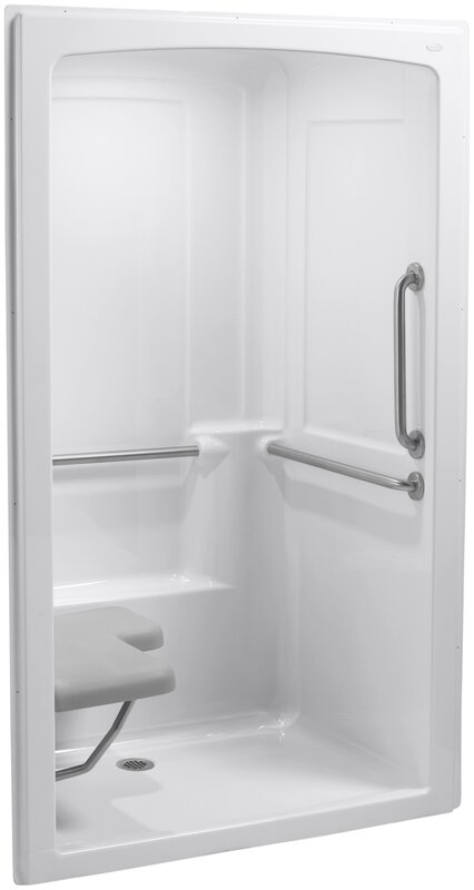 Kohler Freewill Barrier-Free Shower Module with Brushed Stainless ...