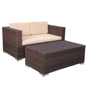 Tildenville 2-Piece Sunbrella Sofa Set with Cushions