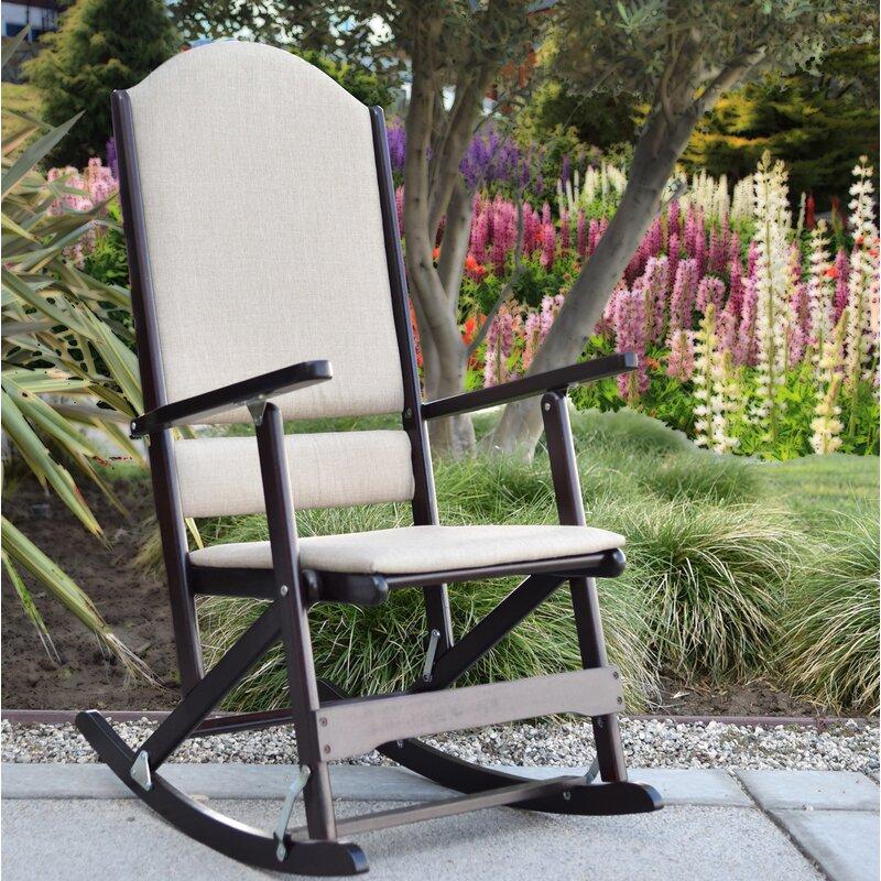 Cedar Creek Solid Wood Folding Rocking Chairs & Wildon Home® Cedar Creek Solid Wood Folding Rocking Chairs u0026 Reviews ...