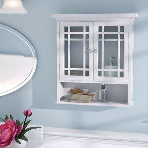 bathroom wall cabinet white. Elba 22  W x 24 H Wall Mounted Cabinet Bathroom Cabinets You ll Love Wayfair