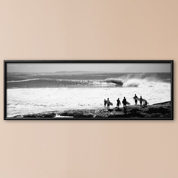 Art.com \'Silhouette of Surfers Standing on the Beach, Australia ...