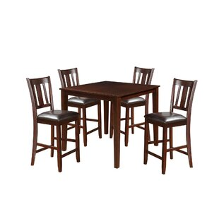 Kroll 5 Piece Counter Height Dining Set