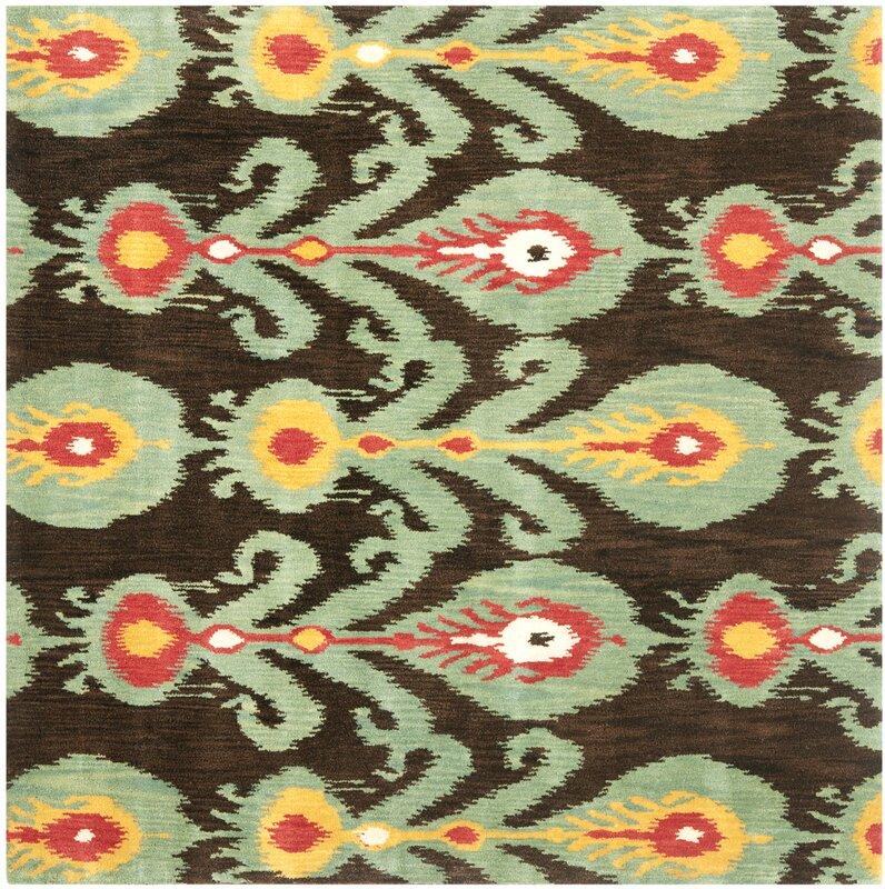 Safavieh Ikat Hand Woven Wool Area Rug Amp Reviews Wayfair