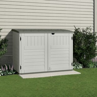 5 Ft. 11 In. W X 3 Ft. 8 In. D Plastic Horizontal Garbage Shed