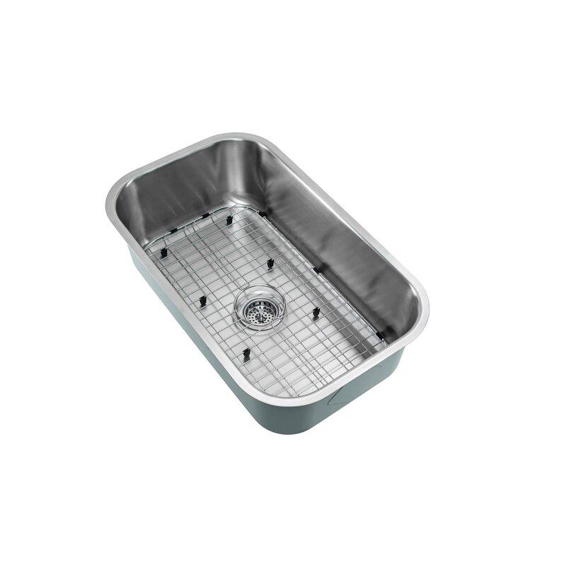 16 Gauge Undermount Kitchen Sink Soleil 16 gauge stainless steel 30 x 18 undermount kitchen sink 16 gauge stainless steel 30 x 18 undermount kitchen sink with gooseneck faucet workwithnaturefo