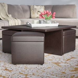 Schooner Coffee Table with Nested Stools by ..
