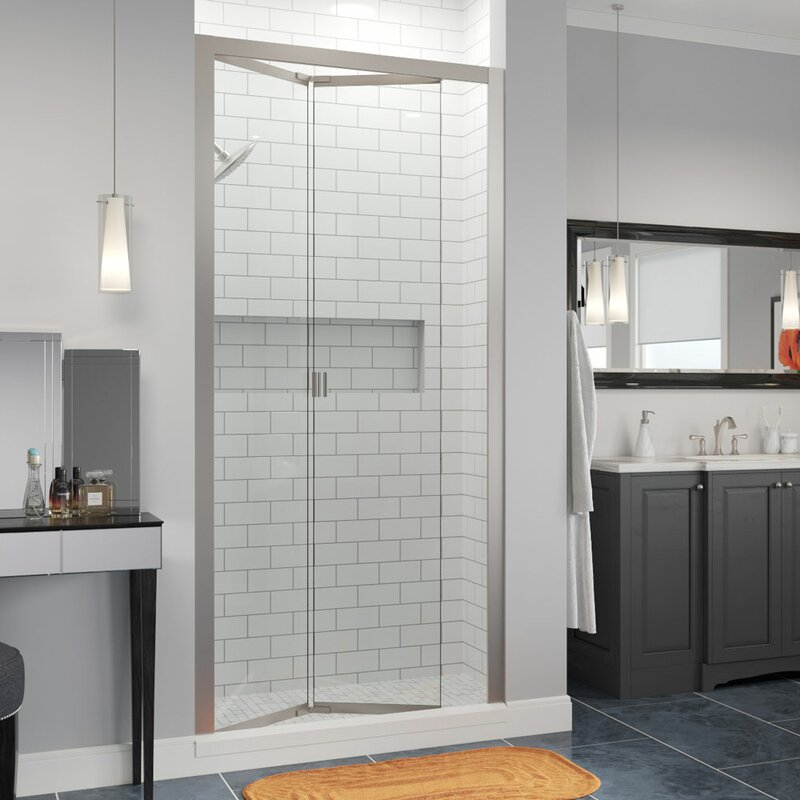 "Basco Infinity Bifold 31"" x 72"" Folding Semi-Frameless Shower Door"