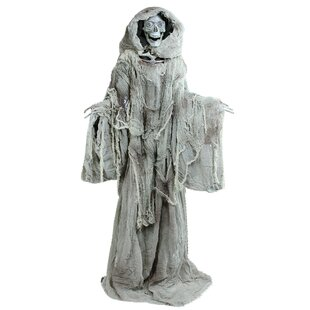 touch activated lighted standing master of death animated halloween decoration with sound