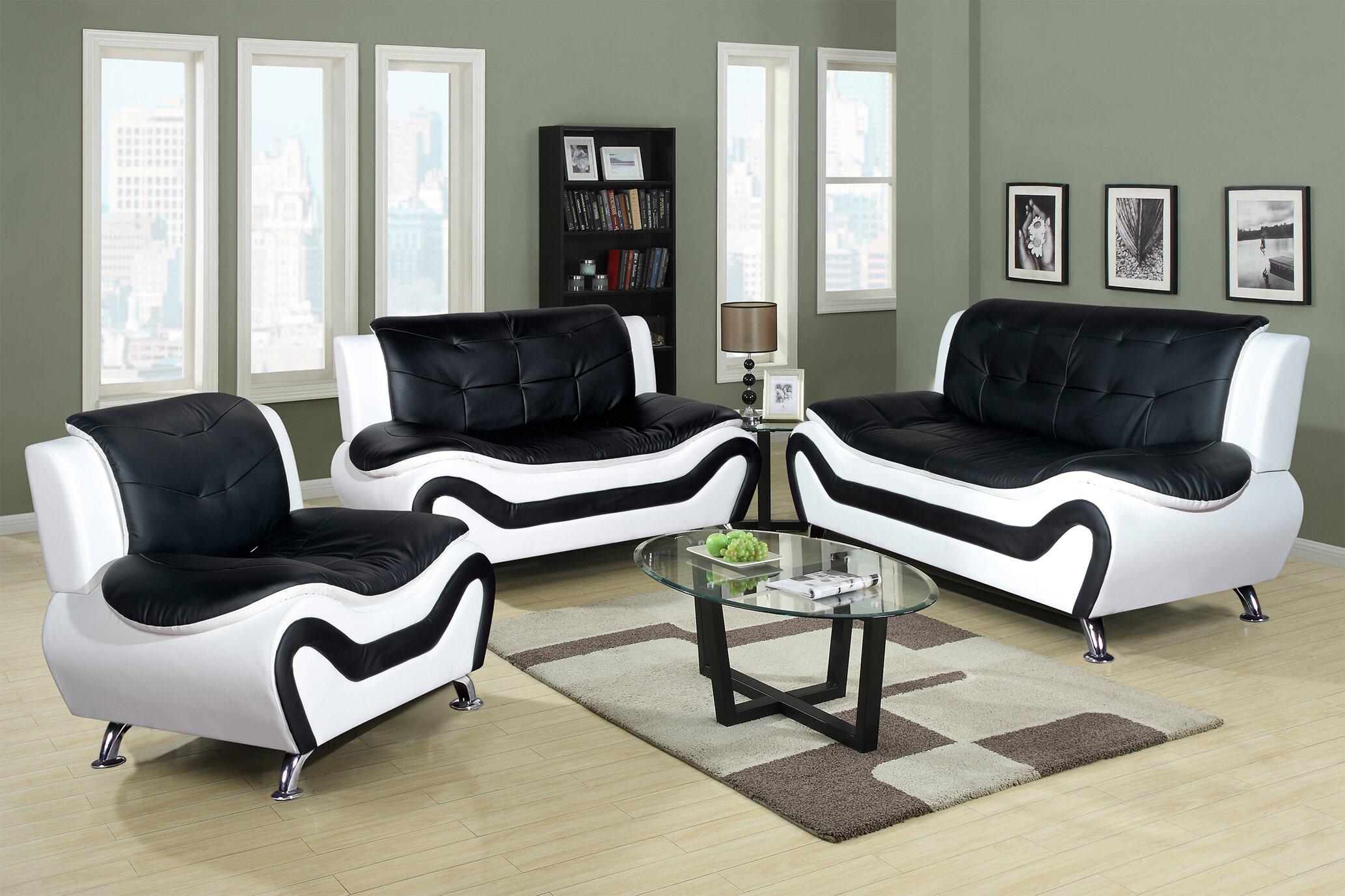 Chicoine 3 Piece Living Room Set