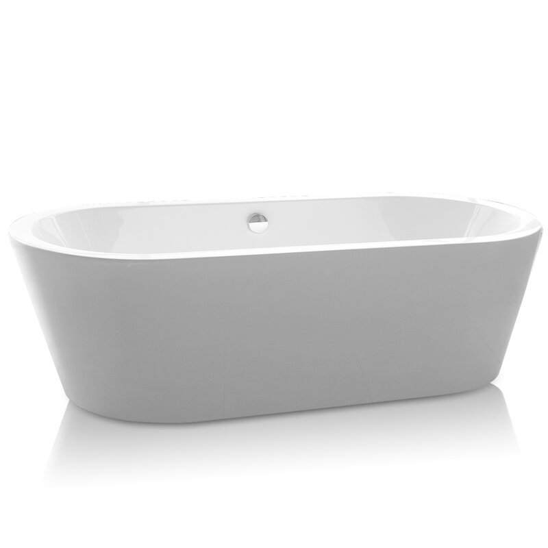 small square soaking tub | wayfair