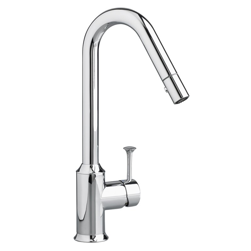 Pekoe Pull Down Single Handle Kitchen Faucet With Side Spray