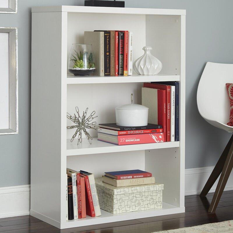Decorative 3 Shelf Standard Bookcase