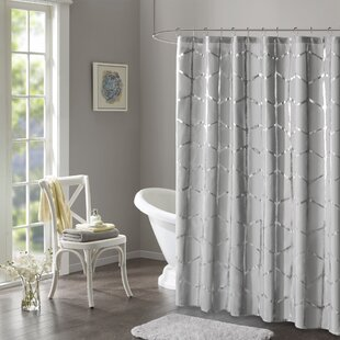Silver Glitter Shower Curtain