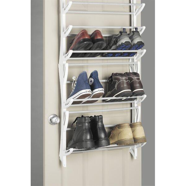 Whitmor Inc 12-Tier 36 Pair Overdoor Shoe Organizer \u0026 Reviews | Wayfair