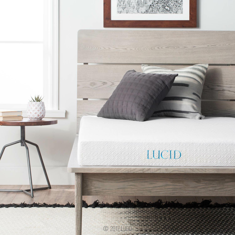 lucid 5 firm gel memory foam mattress reviews wayfair