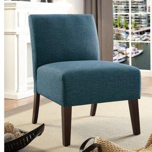 Bon Teal Armless Chair | Wayfair