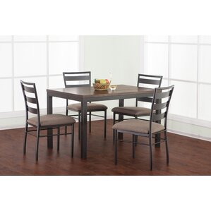 Girardville 5 Piece Dining Set by Simmons Casegoods by Red Barrel Studio