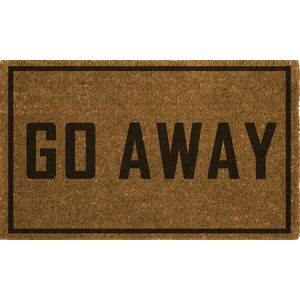 Rodin Go Away Doormat