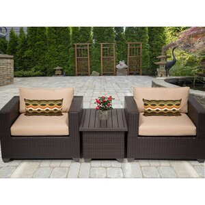 Belle 3 Piece Conversation Set with Cushions