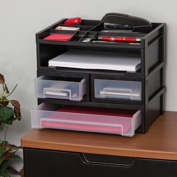 Desktop Storage With Drawers | Wayfair