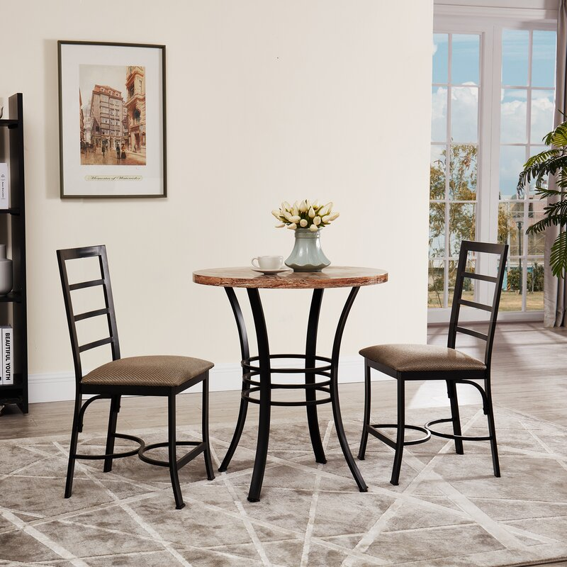 Casillas Bistro 3 Piece Dining Set