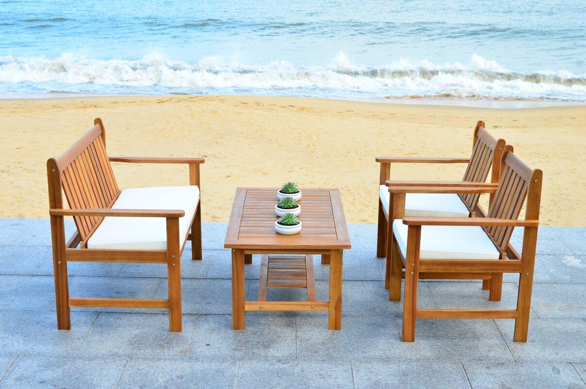 safavieh 4 tlg sofa set venice mit kissen bewertungen. Black Bedroom Furniture Sets. Home Design Ideas