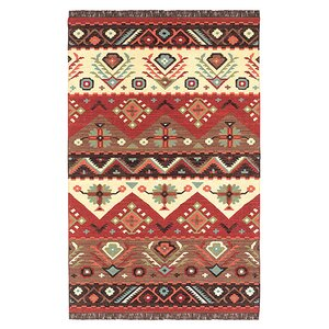 Double Mountain Red Rug