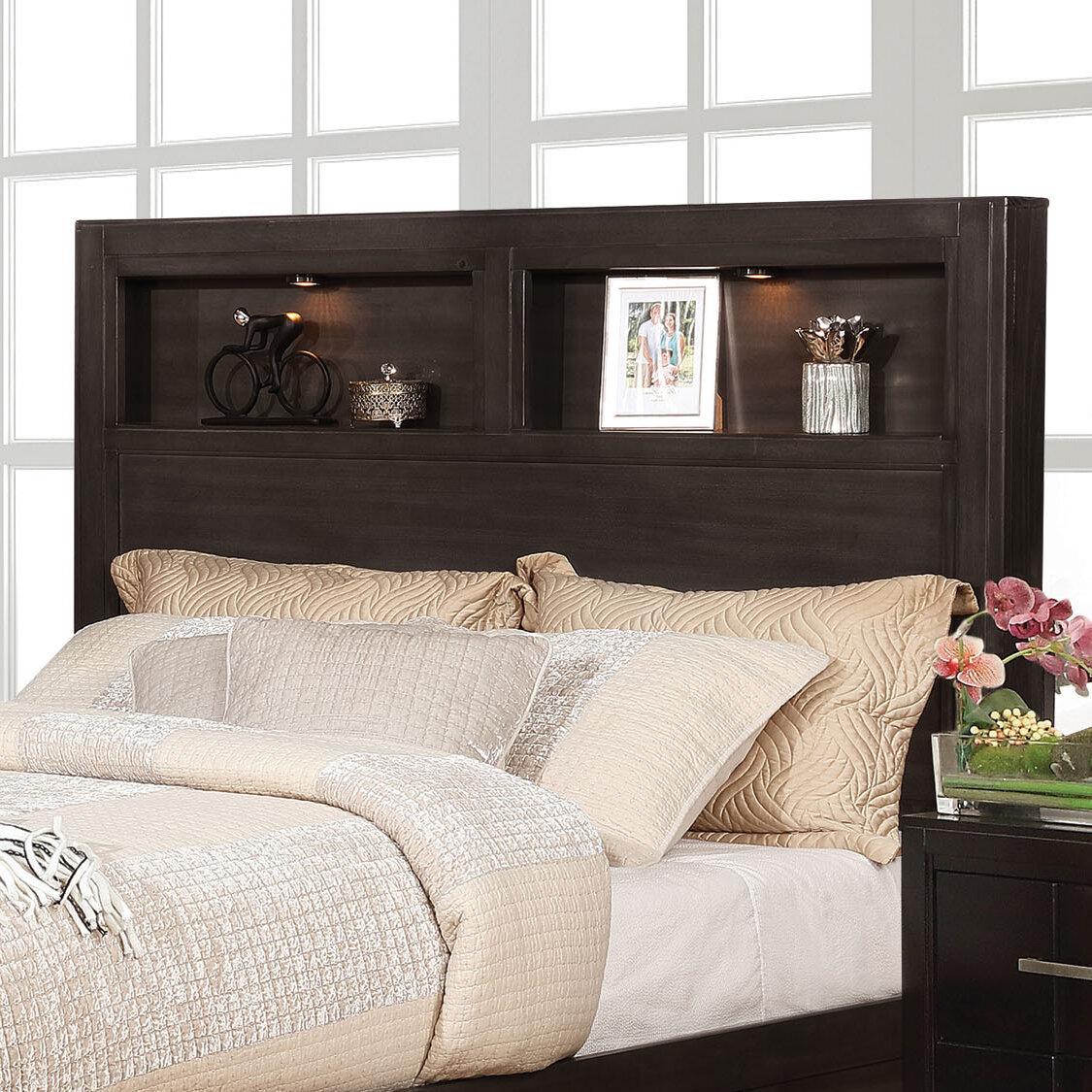 Gracie Oaks Pruitt Queen Bookcase Headboard