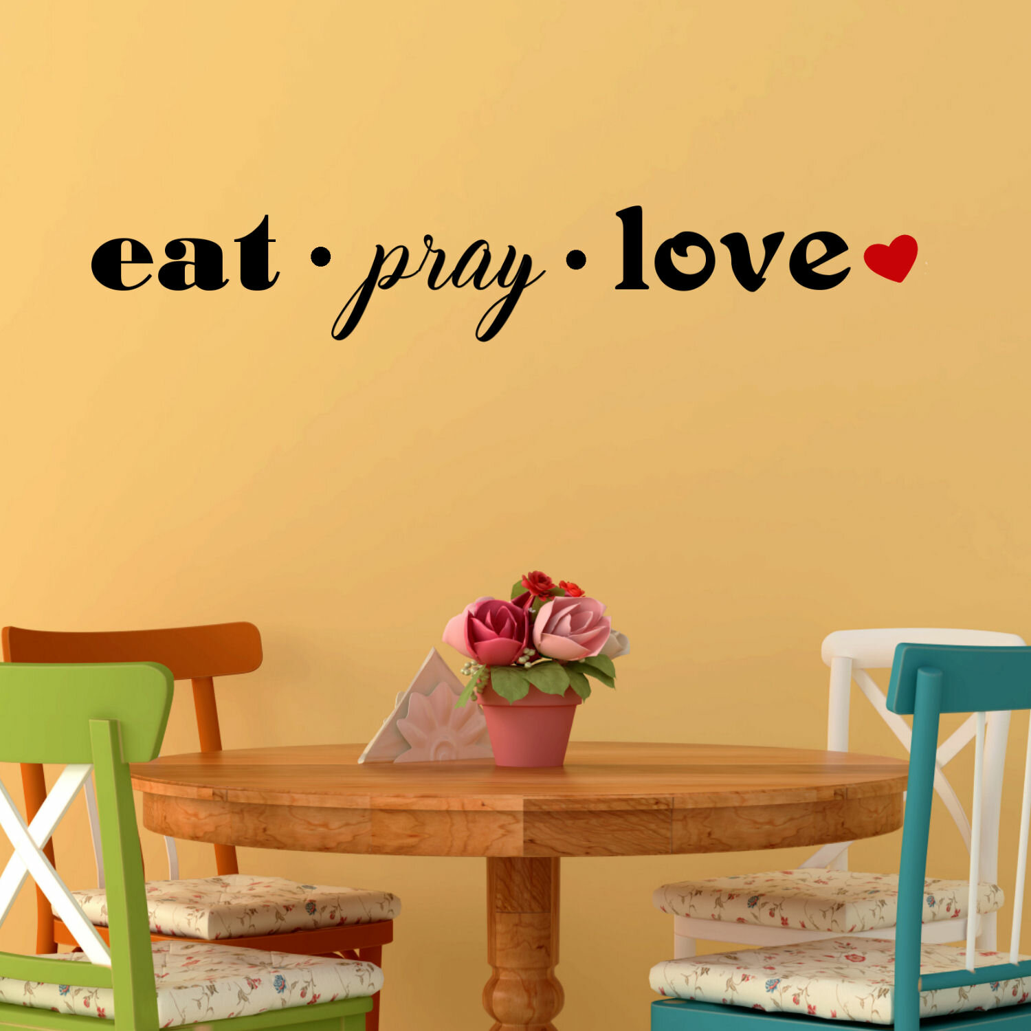 Decalthewalls Eat Pray Love Wall Decal Wayfair