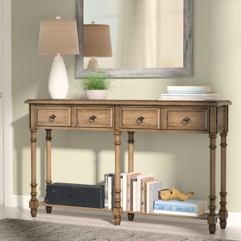 August Grove Preusser Console Table Amp Reviews Wayfair