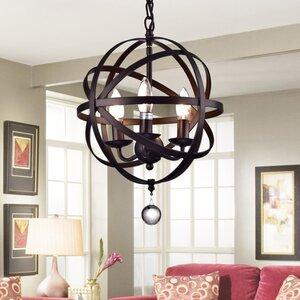 Riza 3-Light Globe Pendant