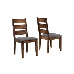 Upchurch Ladder Back Solid Wood Dining Chair Set Of 2