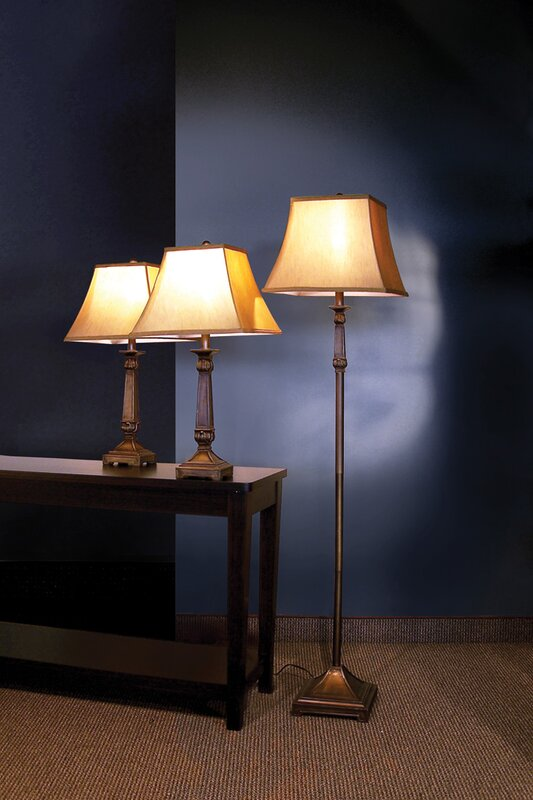 Darby Home Co Froste 3 Piece Table and Floor Lamp Set & Reviews ...